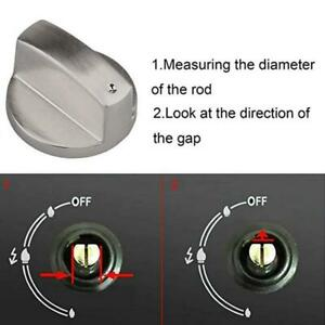 6mm-Gas-Stove-Knobs-Cooker-Oven-Hob-Kitchen-Switch-Control-Silver-Alloy