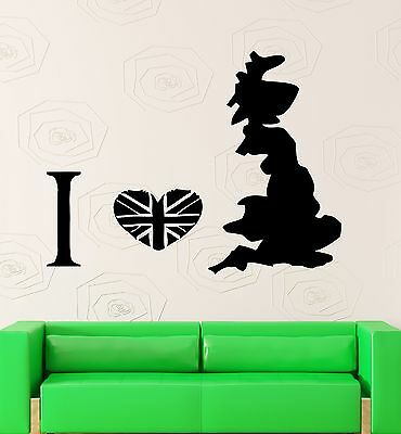 z1598 Wall Sticker London England Britain Travel Living Room