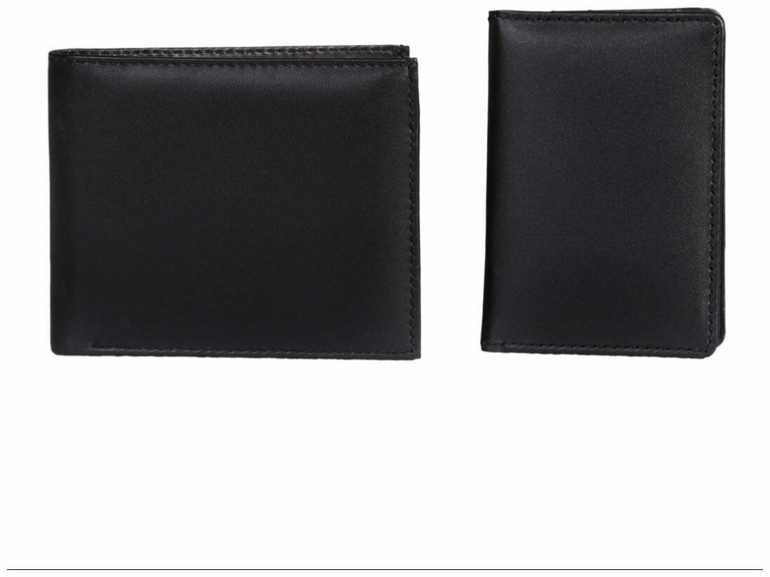 Leather World 1.5 L Black GenuineLeather Giftset with Zip Closure-aQC