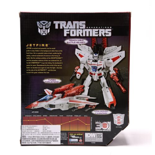 Hasbro Transformers Thrilling IDW 30th Anniversary Leader Class Jetfire Hot sale