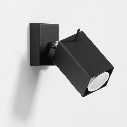 Wand Leuchte Lampe schwarz Wohn Zimmer Beleuchtung Flur Spot Strahler schwenkbar