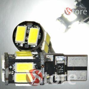 2-Led-T10-Lampade-Canbus-10-SMD-5630-No-Errore-Luci-BIANCO-Posizione-Auto-W5