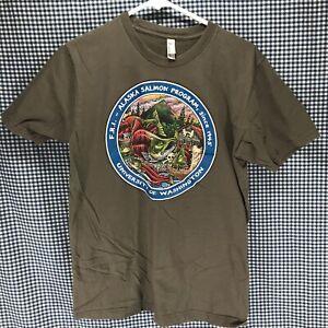 Ray-Troll-Alaska-Salmon-Program-T-Shirt-Men-s-Size-Medium