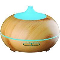 Victsing 300ml Aroma Essential Oil Diffuser, Wood Grain Ultrasonic Cool Mist on sale
