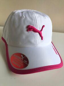 9bea5bb4c Details about PUMA WOMENS CAP EVERCAT GRETA RUNNING ADJUSTABLE CAP  WHITE/PINK OSFA