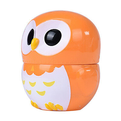 2015 Cute Owl Timer Kitchen 60 Minute Cooking Mechanical Home Timers Decoration