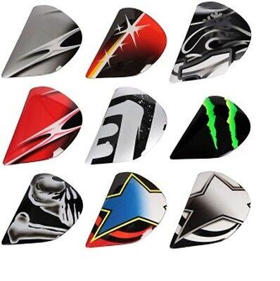Arai Helmets CORSAIR V Side Pods NICKY-3 Stars Matte Shield Covers Holders