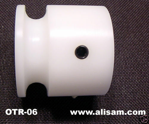 Woodturning OT pulley for round belting tubing