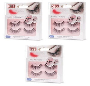 1aa3568a991 KISS EYELASHES, Looks So Natural, Tapered end Lash, Poise | eBay