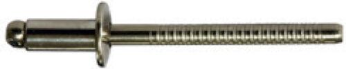 4,8 X 30,0 mm 250 Stück Alu Edelstahl A2 Fachrundkopf Blindnieten Dichtnieten
