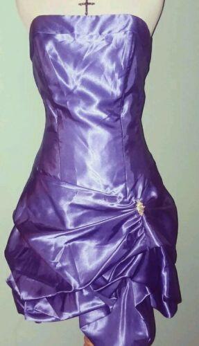 Jessica McClintock Gunne Sax Vtg 90s Purple Strapl