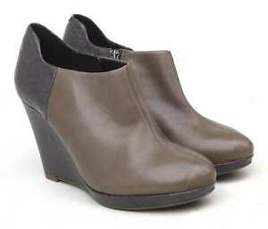 Clarks-Womens-UK-Size-7-Brown-Leather-Ankle-Boots