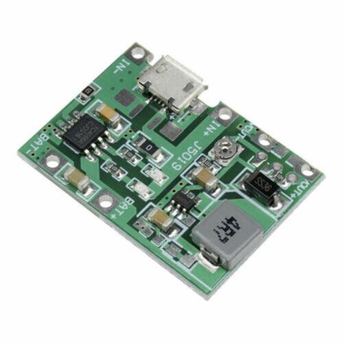 2pcs Micro USB 3.7V Lithium Li-ion 18650 Battery Charger Module Boost StepUp TOP