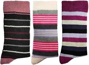3 Pairs of Ladies JA48 Patterned Cotton Socks by Jennifer Anderton , UK Size 4-8