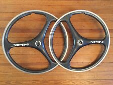 "Spin Carbon Tri Spoke Rim Brake QR 9mm 135mm 26"" Wheelset"