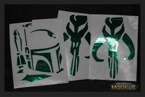 Two Star Wars Green Chrome Scum And Villainy Decals 3 sizes and Various designs