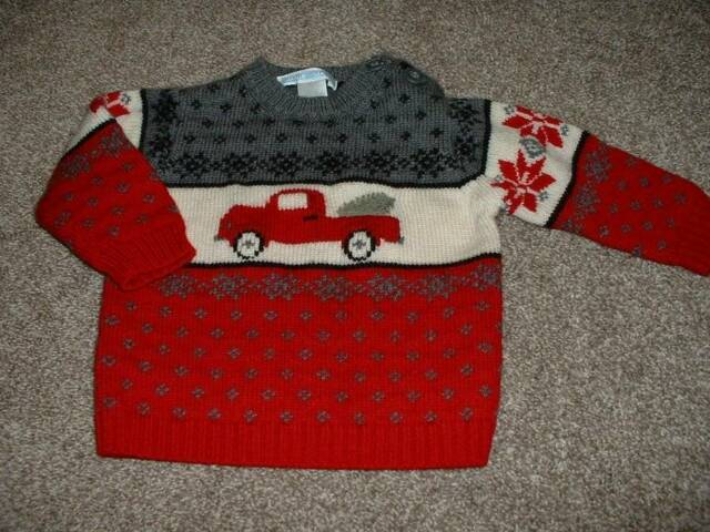 Janie and & Jack Fair Isle Holiday Sweater Size 6-12 months mos Wool Christmas