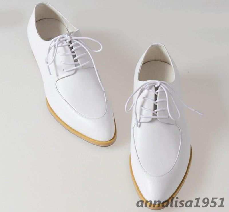 Spitz Herren Schuhe Business Anzugschuhe Formell Hochzeit Schwarz Weiß Gr.36-44