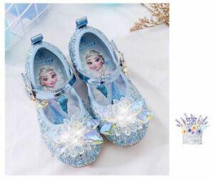 Froze2 Enfants fille Elsa princesse fête paillettes cristal Cosplay chaussures