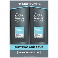 Dove Men+care Body And Face Wash, Clean Comfort 18 Oz, Twin Pack on sale