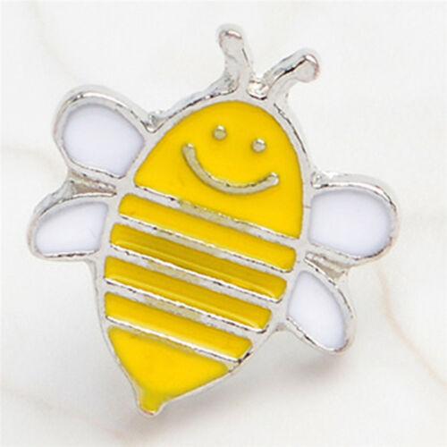 Cute 4PCS Enamel Animals Bee Brooch Pin Shirt Collars Pins Badge Corsage Jew OQ