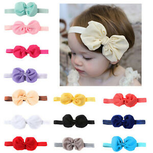 14-Pcs-Headband-Kids-amp-Girl-amp-Baby-Toddler-Bow-Flower-Hair-Band-Accessories-Headw-JE