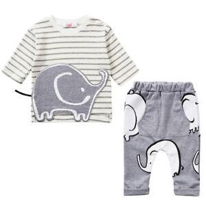 2pcs Toddler Infant Kids Baby Boys Cotton T-shirt tops shorts Clothes Sets