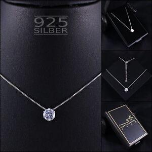Zirkonia-Kette-Halskette-925-Sterling-Silber-Damen-SWAROVSKI-ELEMENTS-ETUI