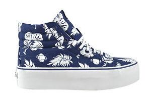 Details zu Vans SK8 HI Platform tropicoco blue flowers Sneaker Schuhe mehrfarbig Blumen