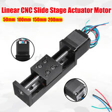 50 200mm Mini T6 Linear Guide Cnc Rail Sliding Stage Actuator Motor St