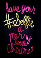 Tg L/s Black Tee Xl Plus 18.5 have Your Selfie A Merry Little Christmas