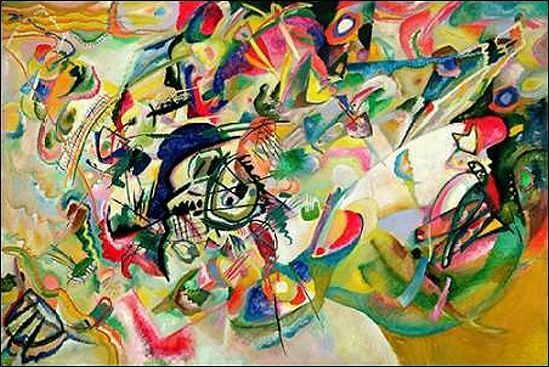 Vasily 7 Kandinsky: composition no 7 Vasily marcos de cuña-imagen lienzo abstracto kompositio 015499