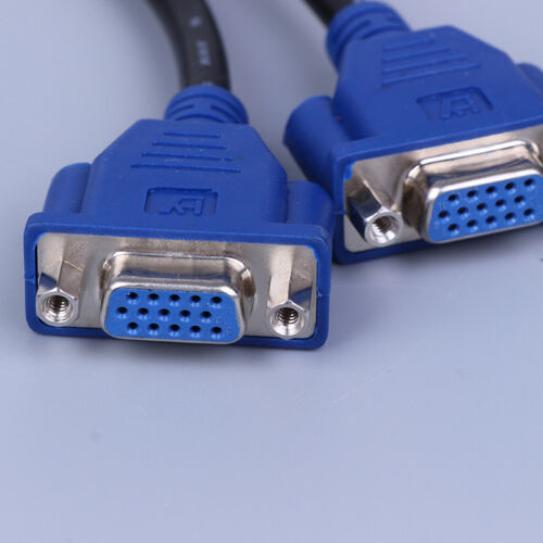 DVI-I 24+5 pins male to 2//two dual VGA female monitoradapter y-splitter cable IJ