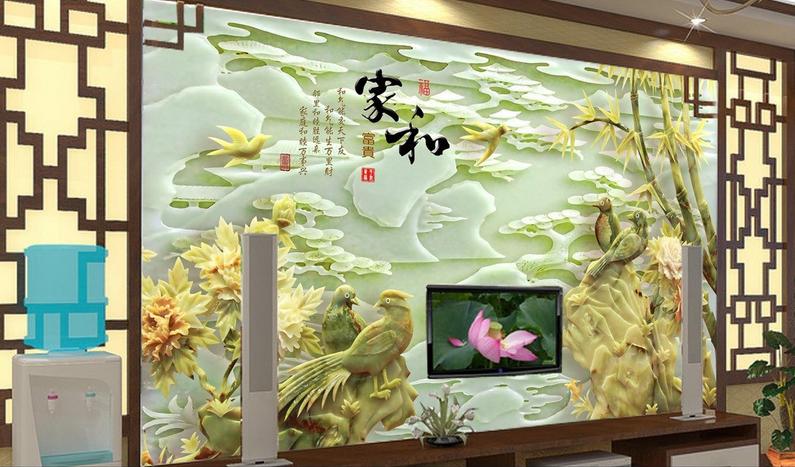 3D Jade Landschaft 683 Tapete Tapeten Mauer Foto Familie Tapete Wandgemälde DE