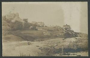 Marblehead-MA-c-1910-RPPC-Photo-Postcard-CLIFTON-HEIGHTS-Houses-Rocky-Coast
