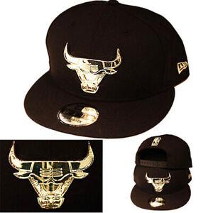 New Era Badge Front Chicago Bulls Snapback Hat Air Foamposite Metallic Silver