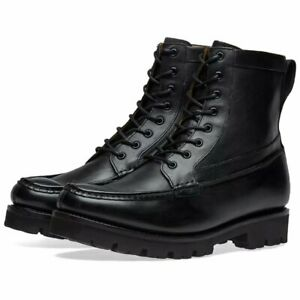 mens black lace up boots uk