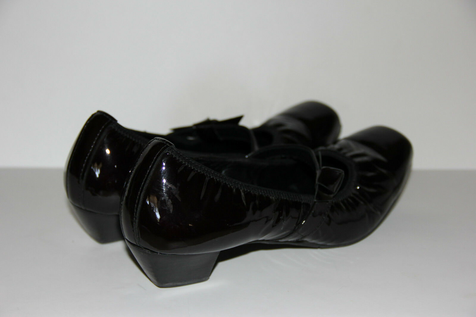 Paul Paul Paul Green Munchen Black Patent Leather Mary Jane Pump Turned Up Toe Womens 5.5 bb1dc9