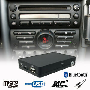 Car-Bluetooth-Handsfree-A2DP-USB-CD-Changer-Adapter-Mini-Cooper-R50-Boost-Radio