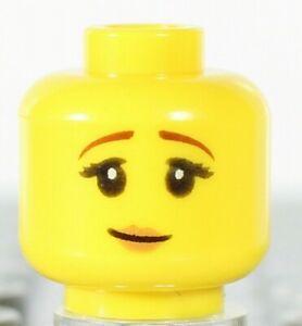 Scared LEGO Minifigure Head YELLOW Female Girl Dual Sided Pensive Smile