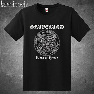 Graveland Black Metal Band Logo Men/'s White T-Shirt Size S to 3XL