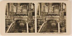 Italia Roma Basilique st Mary Principali c1905 Foto Stereo Analogica