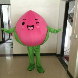 Peach Fruit Mascot Costume Suit Cosplay Party Game Dress ...