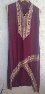 Shalwar Sleeveless Back Short Long Sz Red Yasir Wine Ali L Top Front Kameez zwX6nq
