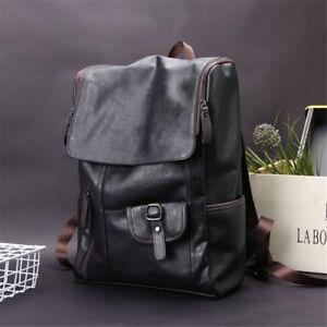 Men-039-s-Vintage-Leather-School-Travel-Backpack-Shoulder-Bag-Laptop-Bag