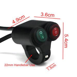 Interrupteur-pour-guidon-Moto-Etanche-2-Boutons-pour-guidon-22mm