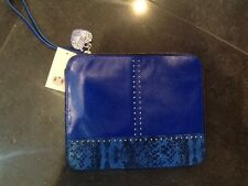 "NWT Juicy Couture New & Gen. In Pelle Blu IPad Custodia Con Logo 8.5"" X 10"""