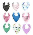 Baby Super Absorbent Dribble Bandana Dry Bibs. Boys & Girls Designs
