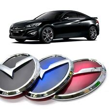 3D K Logo Front Emblem Black  Blue  Red For Hyundai Genesis Coupe 2013 2015
