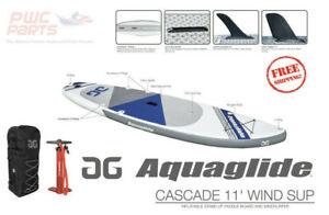 AQUAGLIDE CASCADE i-SUP WIND SUP Package Pump Bag Fins Paddle Board 58-5418103